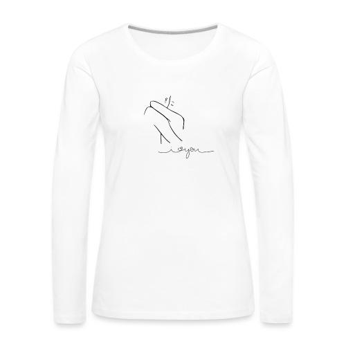 Regalo San Valentino Coppia | Sagome Abbracciate - Maglietta Premium a manica lunga da donna