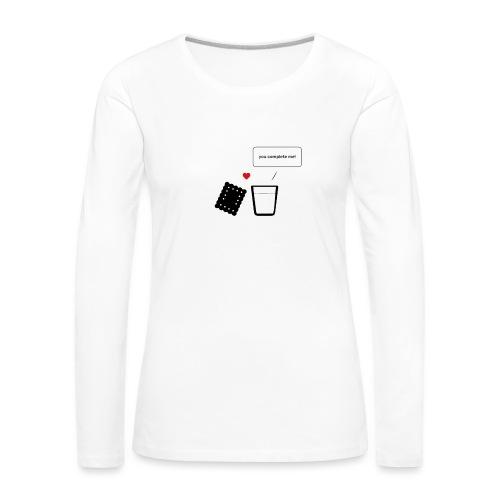 Regali per Innamorati | Mi Completi - Maglietta Premium a manica lunga da donna