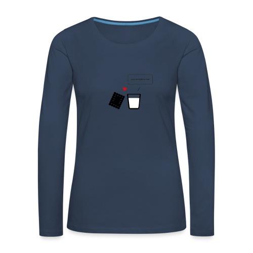 Regali per Innamorati   Mi Completi - Maglietta Premium a manica lunga da donna