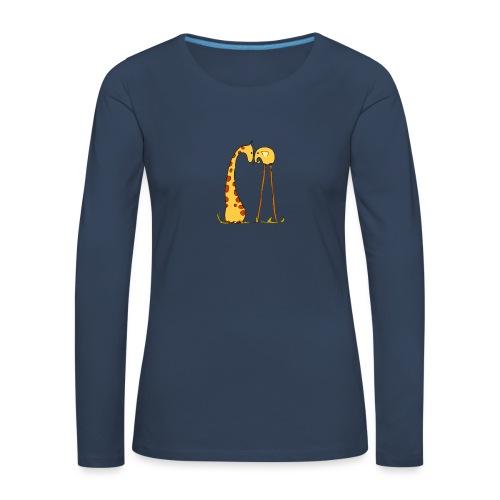 Maglietta San Valentino Tenera   con Animali - Maglietta Premium a manica lunga da donna
