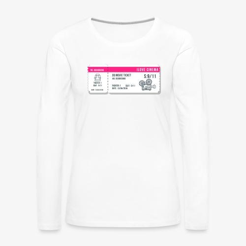 Cinema 2 - Camiseta de manga larga premium mujer