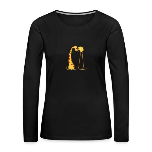 Maglietta San Valentino Tenera | con Animali - Maglietta Premium a manica lunga da donna