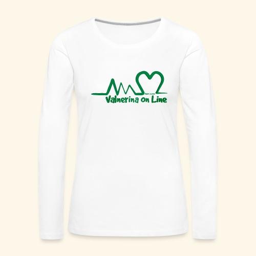 logo verde Associazione Valnerina On line - Maglietta Premium a manica lunga da donna