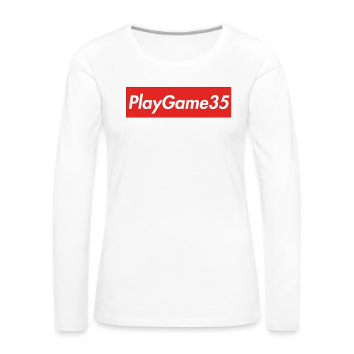 PlayGame35 - Maglietta Premium a manica lunga da donna