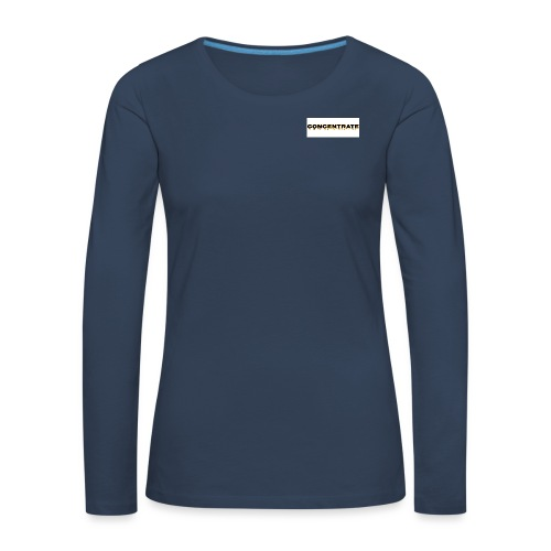 Concentrate on white - Women's Premium Longsleeve Shirt