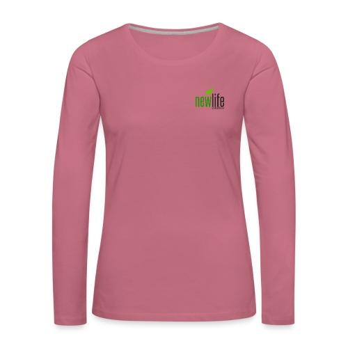 NLC LOGO - Vrouwen Premium shirt met lange mouwen