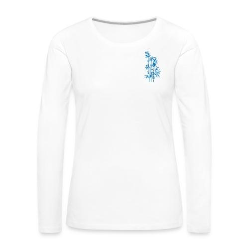 Blu Dafne 01 - Maglietta Premium a manica lunga da donna