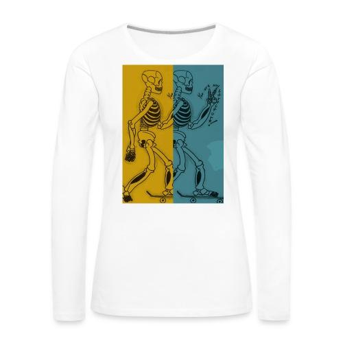 Esqueleto skater: You are my structure! - Camiseta de manga larga premium mujer