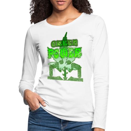 Green Power - T-shirt manches longues Premium Femme