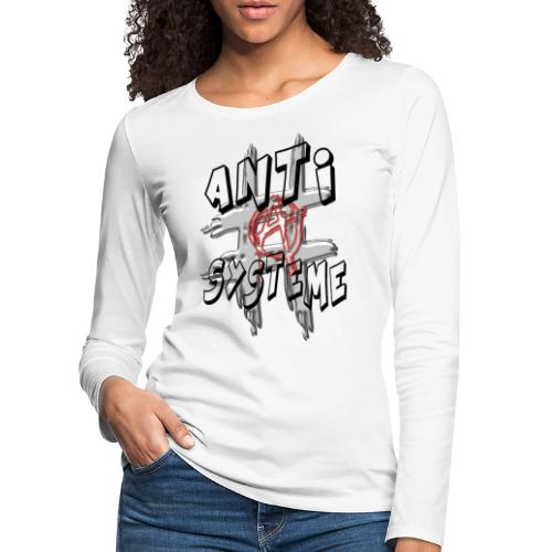 H-Tag Anti Système - T-shirt manches longues Premium Femme