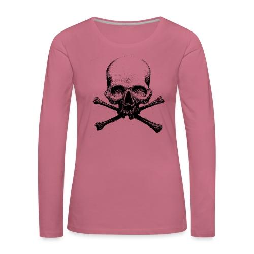 DeadSkull - Maglietta Premium a manica lunga da donna