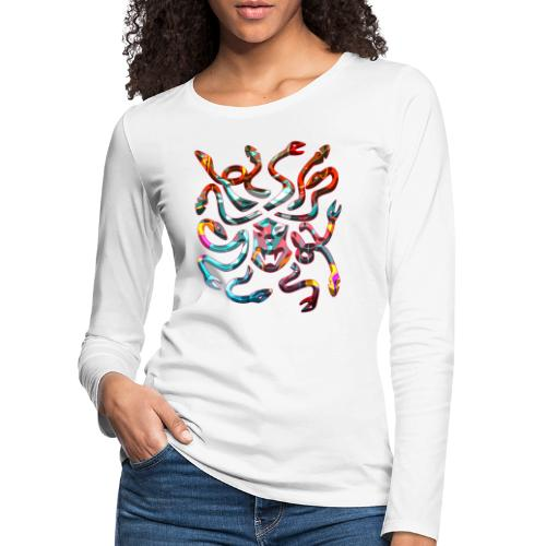 Medusa head - Långärmad premium-T-shirt dam