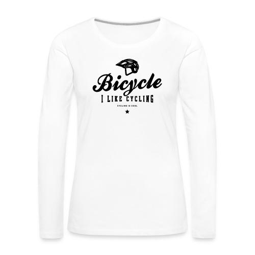 bicycle - Koszulka damska Premium z długim rękawem