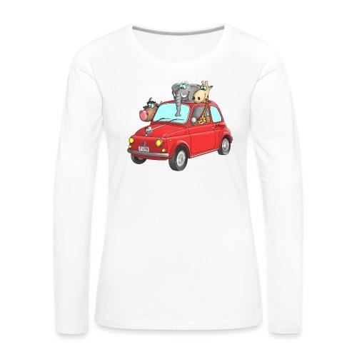 Giraffe - Elefant - Bulle im Auto Kinder - Frauen Premium Langarmshirt