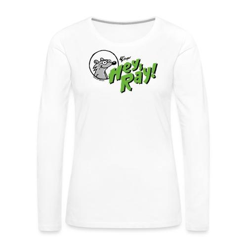 Hey Ray Logo green - Frauen Premium Langarmshirt