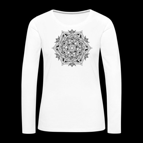 Mandala - Maglietta Premium a manica lunga da donna