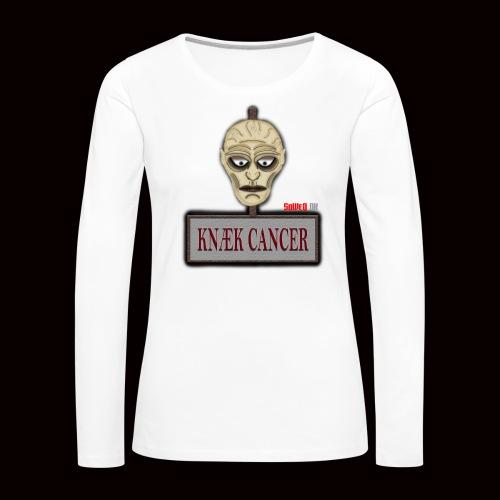 Knæk Cancer Kollektion ! - Dame premium T-shirt med lange ærmer