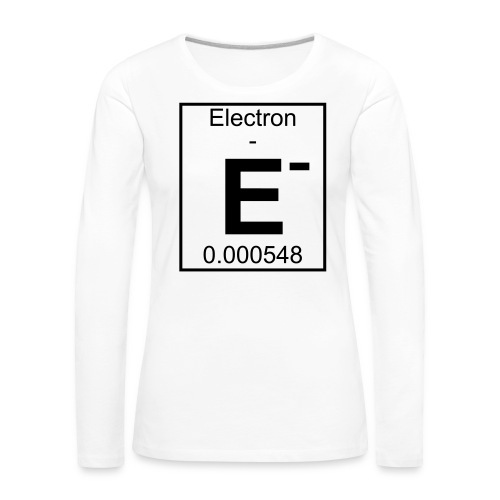 E (electron) - pfll - Women's Premium Longsleeve Shirt