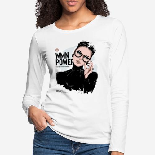 Frauen Power Girl - Frauen Premium Langarmshirt