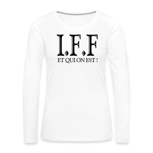 IFF FACISTI FORA - T-shirt manches longues Premium Femme