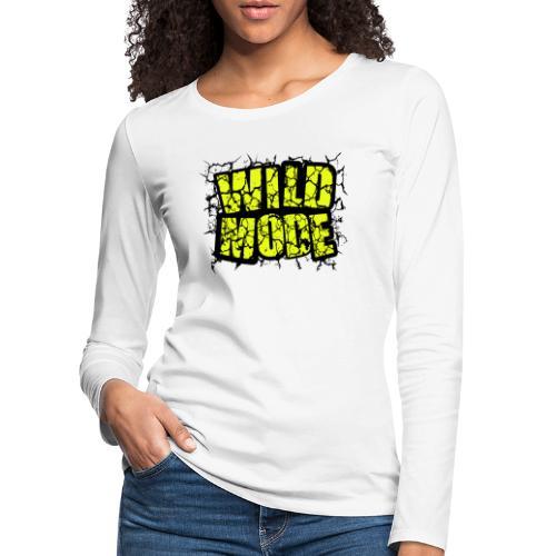 WILD MODE NEGRO Y VERDE - Camiseta de manga larga premium mujer