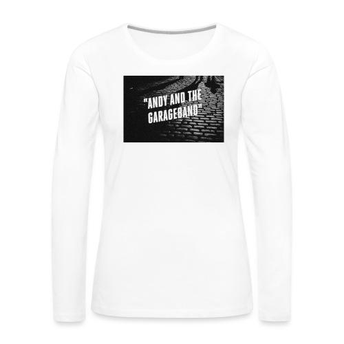 Black and White - Premium langermet T-skjorte for kvinner