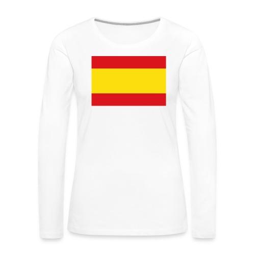 vlag van spanje - Vrouwen Premium shirt met lange mouwen