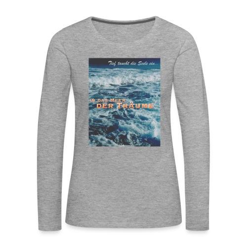 Meer Design - Frauen Premium Langarmshirt