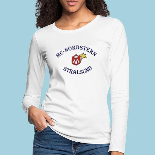 MC Nordstern Schrift gebogen - Frauen Premium Langarmshirt