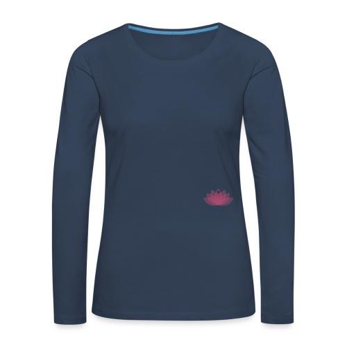 DOE JE DING #LOTUS - Vrouwen Premium shirt met lange mouwen