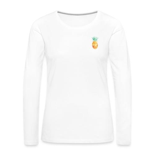 pinety logo print - Dame premium T-shirt med lange ærmer
