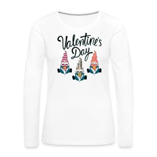 Valentine's Day Gnome - Women's Premium Longsleeve Shirt