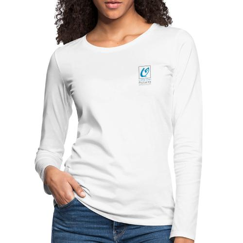 Little Owl Pictures Logo (schwarz/blau) - Frauen Premium Langarmshirt