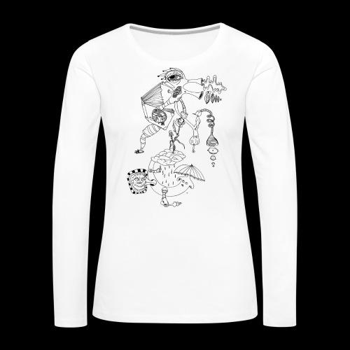 subconscientes colectivos II - Camiseta de manga larga premium mujer