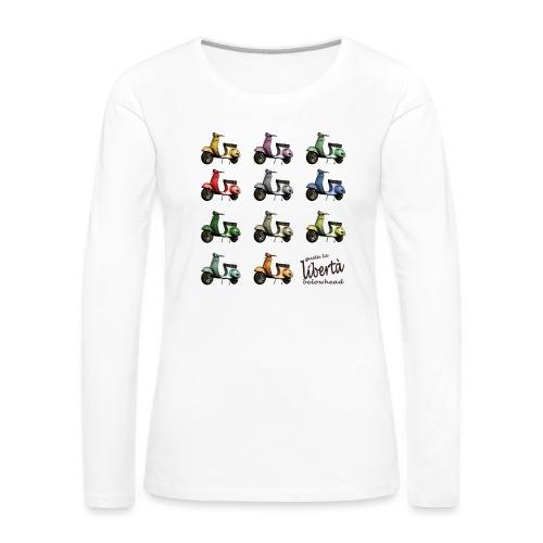 ♂ BIO-SHIRT: gusta la libertà - Frauen Premium Langarmshirt