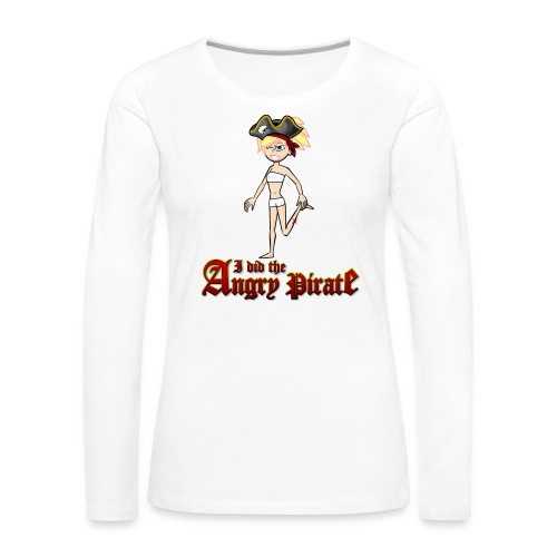 The Angry Pirate (Man) - Frauen Premium Langarmshirt