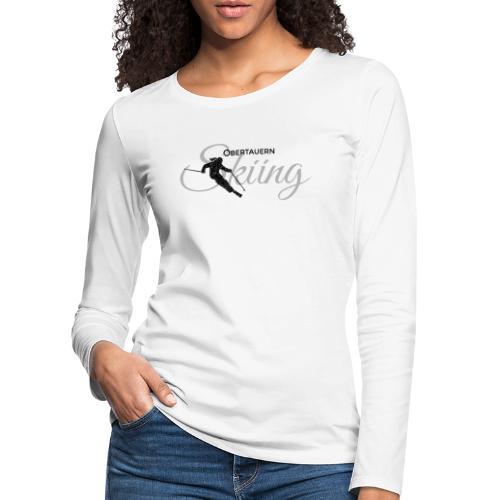 Obertauern Skiing (Grau) Apres-Ski Skifahrerin - Frauen Premium Langarmshirt