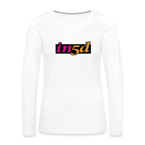 In5d-3 - Dame premium T-shirt med lange ærmer