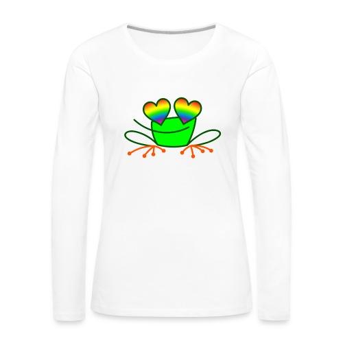 Pride Frog in Love - Women's Premium Longsleeve Shirt