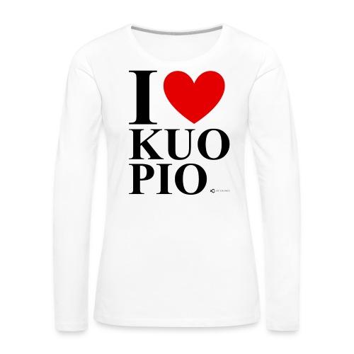 I LOVE KUOPIO ORIGINAL (musta) - Naisten premium pitkähihainen t-paita
