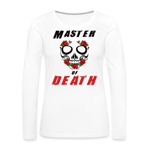 Master of death - black - Koszulka damska Premium z długim rękawem