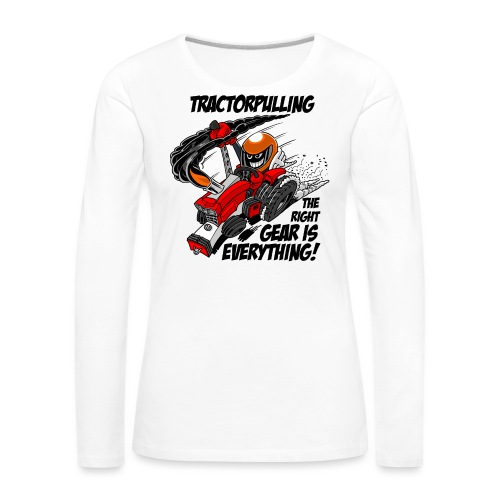 0966 tractorpulling - Vrouwen Premium shirt met lange mouwen
