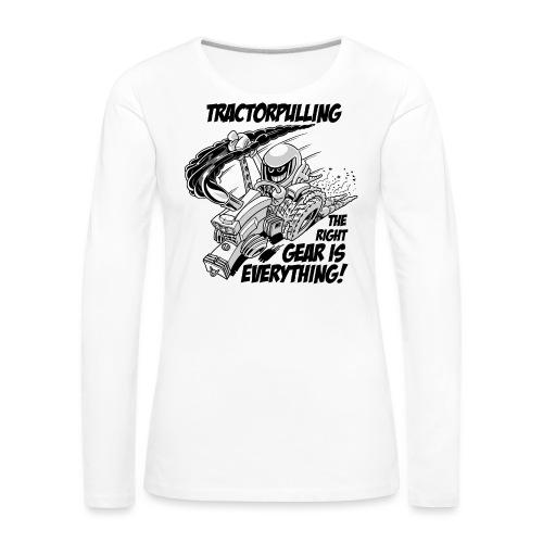 0966 tractorpulling BW - Vrouwen Premium shirt met lange mouwen