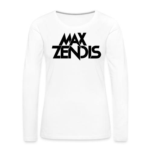 MAX ZENDIS Logo Big - White/Black - Frauen Premium Langarmshirt