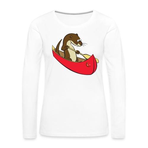 redcanoewithsticker - Women's Premium Longsleeve Shirt