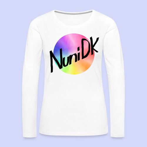 Rainbow shade, NuniDK Collection - Female top - Dame premium T-shirt med lange ærmer