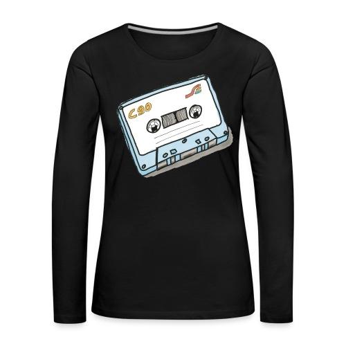 Cassette - Frauen Premium Langarmshirt