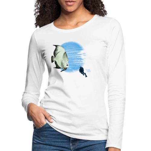 Selfie fish - T-shirt manches longues Premium Femme