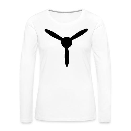 3 blade propeller 1 colour - Women's Premium Longsleeve Shirt