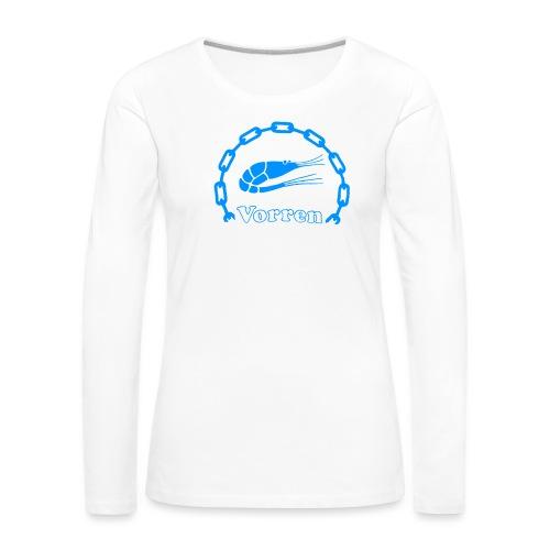 Vorren Logo CLASSIC [Blue] - Långärmad premium-T-shirt dam